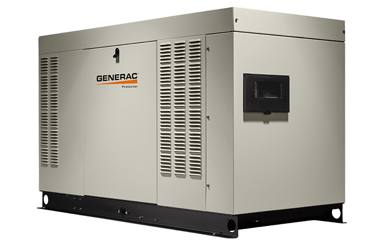 Generac commercial generator side