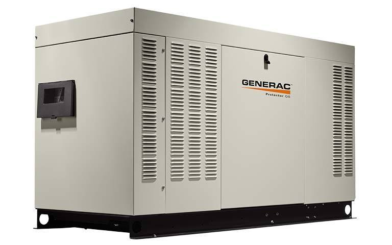 Commercial use generac generator side